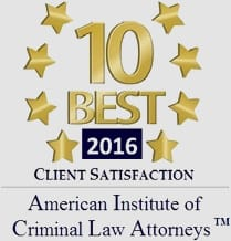 10 best 2016 client satisfaction American Institute of criminal Law attorneys